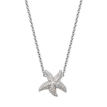 Hot Diamonds Srebrny naszyjnik z prawdziwym diamentem Daisy DN134 srebro 925/1000