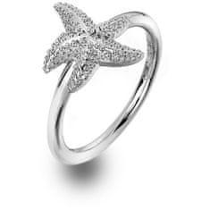 Hot Diamonds Luxusní stříbrný prsten s pravým diamantem Daisy DR213 stříbro 925/1000