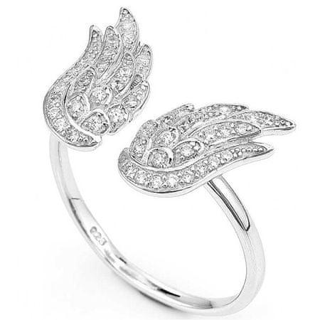 Amen Oryginalny Srebrny pierścionek z cyrkoniami Anioły RW (obwód 51 mm) srebro 925/1000