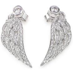 Amen Oryginalne srebro Kolczyki z Aniołami EWH3 cyrkonia
