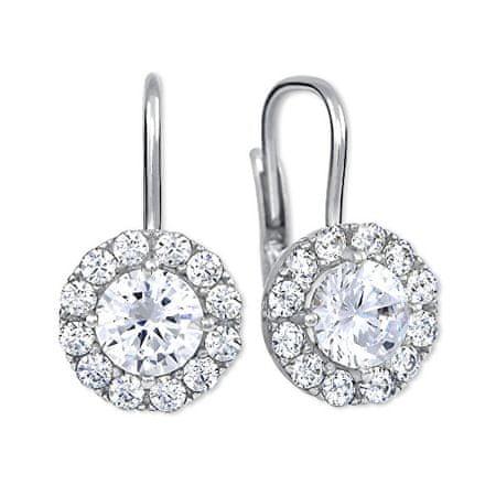 Brilio Silver Ezüst fülbevaló kristályokkal 436 001 00498 04