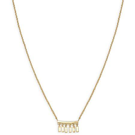 Rosefield Pozlačena jeklena ogrlica Iggy JMDNG-J051