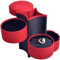 Jan KOS Czerwone pudełko na biżuterię podróżną SP-885 / A10