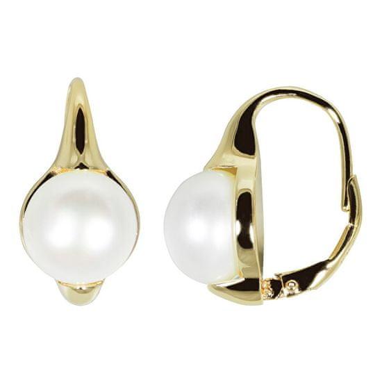 JwL Luxury Pearls Pozlacené náušnice s pravými perlami JL0532