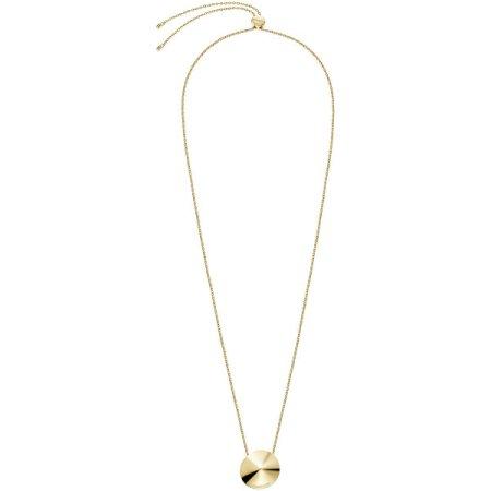 Calvin Klein Aranyozott acél nyaklánc Spinner KJBAJN100200