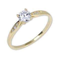 Brilio Zlatý zásnubní prsten s krystaly 229 001 00809