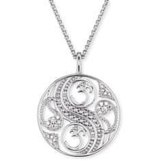 Engelsrufer Stříbrný náhrdelník Balance se zirkony ERN-BALANCE-ZI stříbro 925/1000