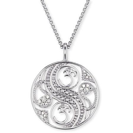 Engelsrufer Balansowy srebrny naszyjnik z cyrkoniami ERN-BALANCE-ZI srebro 925/1000