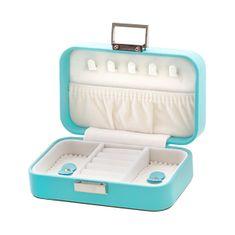 Beneto Škatla za potovalni nakit turkizne barve