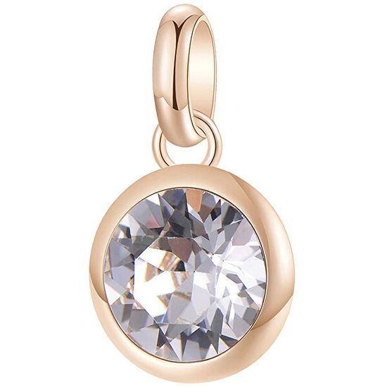 Brosway Růžově zlacený ocelový přívěsek s krystalem Très Jolie BTJM252