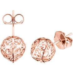 Engelsrufer Rózsaszín aranyozott ezüst angyal harang fülbevaló ERE-ER1-STR