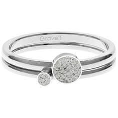 Gravelli Komplet jeklenih obročev z betonom Double Dot jeklo / siva GJRWSSG108