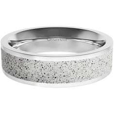 Gravelli Prsten s betonem Fusion Bold ocelová/šedá GJRWSSG111