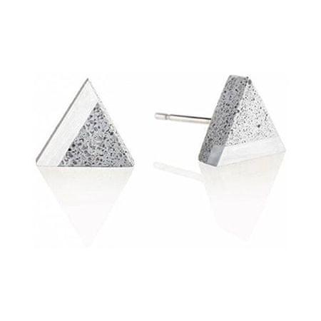 Gravelli Kő és acél kő fülbevaló háromszög acél GJEWSSG003UN