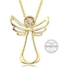 Levien Pozlacený náhrdelník s krystalem Guardian Angel