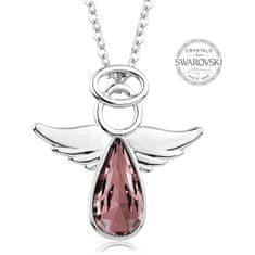 Levien Náhrdelník se starorůžovým krystalem Angel Rafael