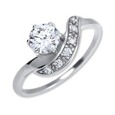 Brilio Silver Strieborný zásnubný prsteň 426 001 00534 04 striebro 925/1000