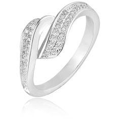 Beneto Srebrni prstan s kristali AGG209 srebro 925/1000