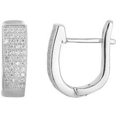 Beneto Ezüst fülbevaló kristályokkal AGU1165