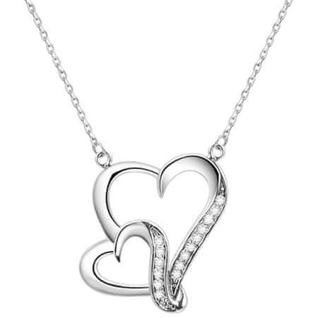 Beneto Ezüst nyaklánc szívvel AGS291 / 48 ezüst 925/1000