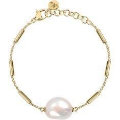 Morellato Pozlacený ocelový náramek s pravou perlou Oriente SARI07