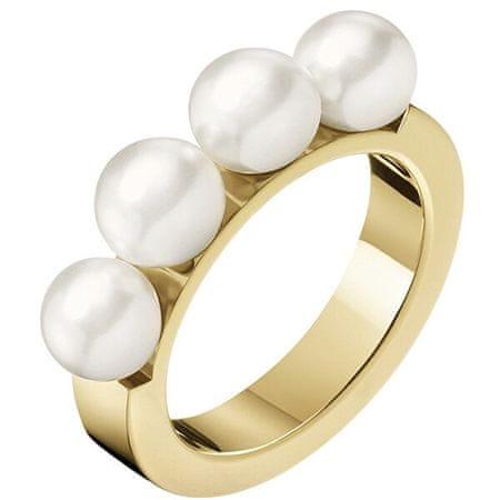 Calvin Klein Aranyozott gyűrű gyöngyökkel Circling KJAKJR1401 (Kerület 57 mm-es)