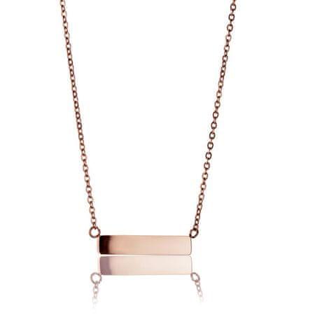 Emily Westwood Rózsaszín aranyozott acél nyaklánc WN1012R