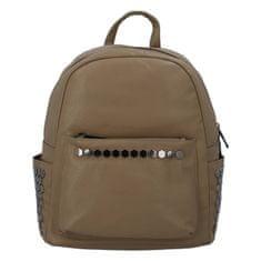 Silvia Rosa Dámsky mestský koženkový batôžtek Azura, zemitý