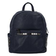 Silvia Rosa Dámsky mestský koženkový batôžtek Azura, tmavo modrý