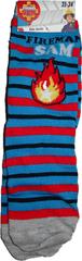 FOOT Chlapecké ponožky s motivem Požárník Sam s ohněm.