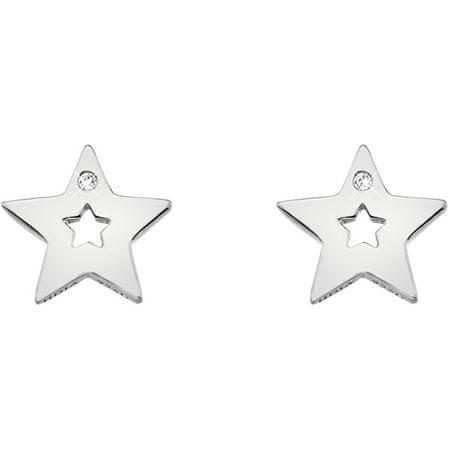 Hot Diamonds Srebrne gwiazda Kolczyki z prawdziwymi diamentami Amulety DE587