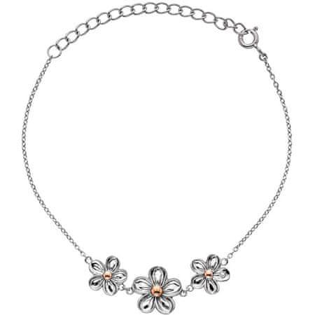 Hot Diamonds Srebrna zapestnica z rožami Ne pozabi me DL596