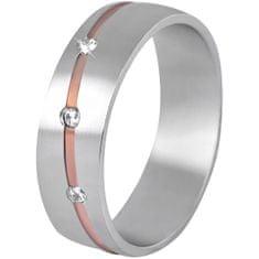 Beneto Dámský bicolor prsten z oceli SPD07