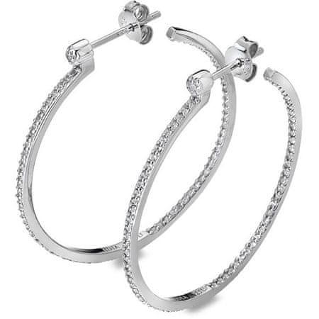 Hot Diamonds Srebrne okrągły Kolczyki z diamentami Obręcze Topaz DE624