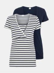 Mama.licious sada dvou kojicích triček v bílé a modré barvě