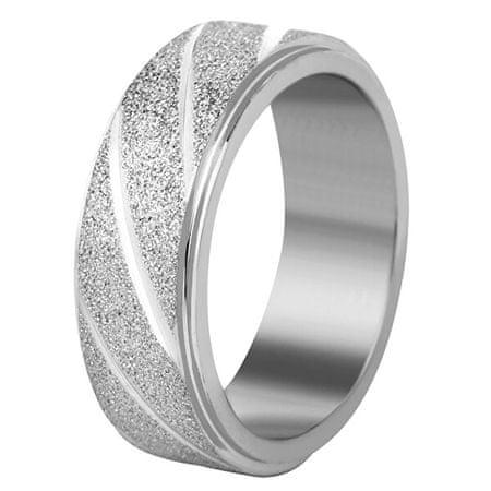 Troli Acél karikagyűrű ezüst / csillogó (Kerület 52 mm)