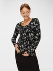Mama.licious černé vzorované těhotenské tričko