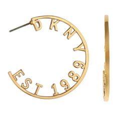 DKNY Kruhové náušnice s logem New York 5547960