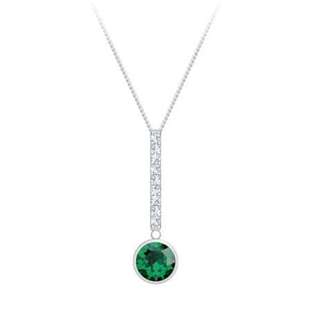 Preciosa Ezüst nyaklánc cirkónium kövekkel Lucea 5296 66 (lánc, medál) ezüst 925/1000