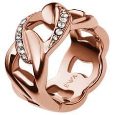 Emporio Armani Ružovo pozlátený oceľový prsteň EGS1990221