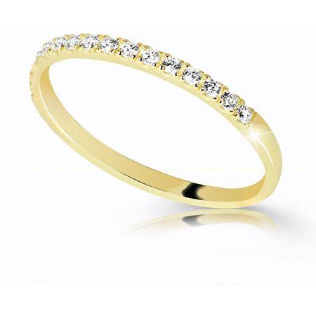 Cutie Jewellery Gyönyörű csillogó gyűrű Z6739-10-X-1 (Kerület 56 mm) sárga arany 585/1000