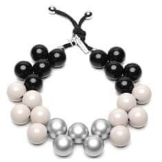Ballsmania Originální náhrdelník C206MSEAS-028 Nero-Tortora-Silver Metal