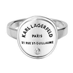 Karl Lagerfeld Stylový prsten s výrazným logem 554530