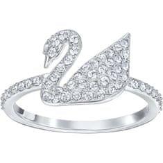 Swarovski Luxusní prsten s labutí SWAN 5258399