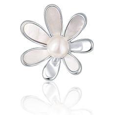 JwL Luxury Pearls Broszka perłowa 2w1 z prawdziwą białą perłą i masą perłową JL0660