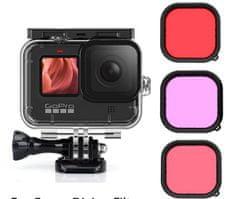 GoSport Komplet barvnih filtrov z vodoodpornim ohišjem za Hero 9 - Mini