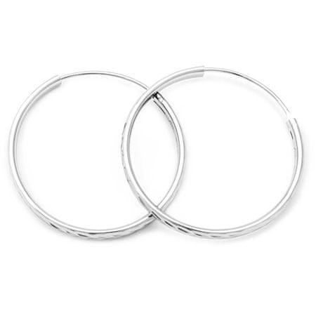 Beneto Csodálatos ezüst karika fülbevaló AGUC2102/40/N