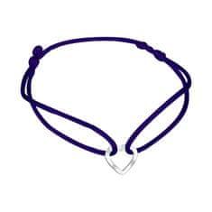 Praqia Zsinór kék kabala karkötő Szív KA6183