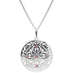 Praqia Gyönyörű ezüst nyaklánc kristályokkal KO5017_CU040_45_RH (lánc, medál) ezüst 925/1000