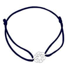 Praqia Zsinór fekete kabala karkötő Mandala KA6202